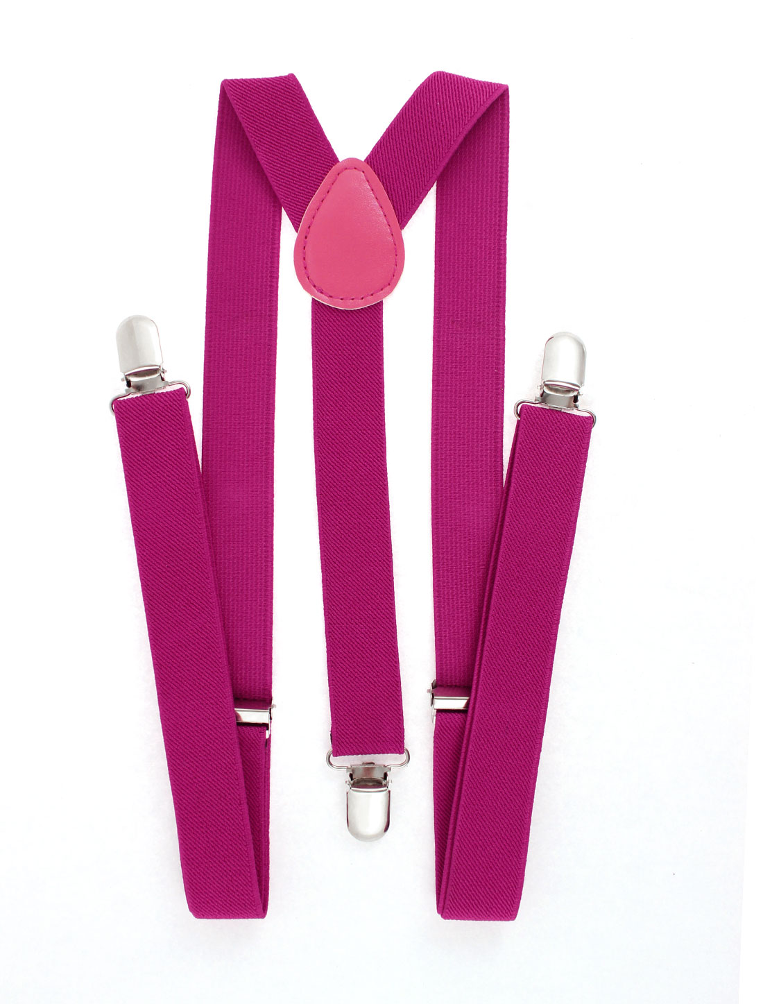 Women Elastic Y Shape Adjustable Suspender Braces Fuchsia