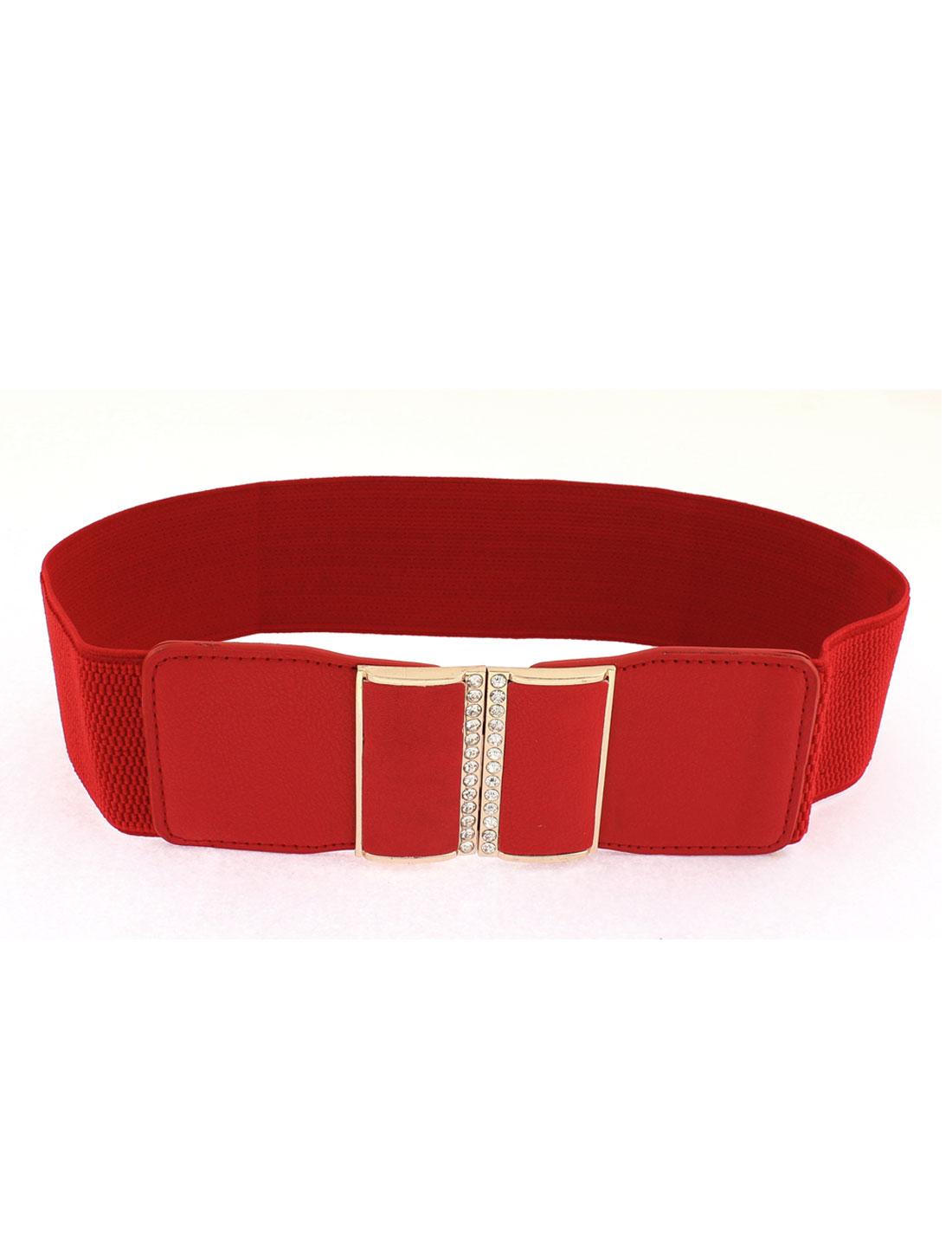 Women Adjustable Elastic Stretch Wide Waistband Waist Belt