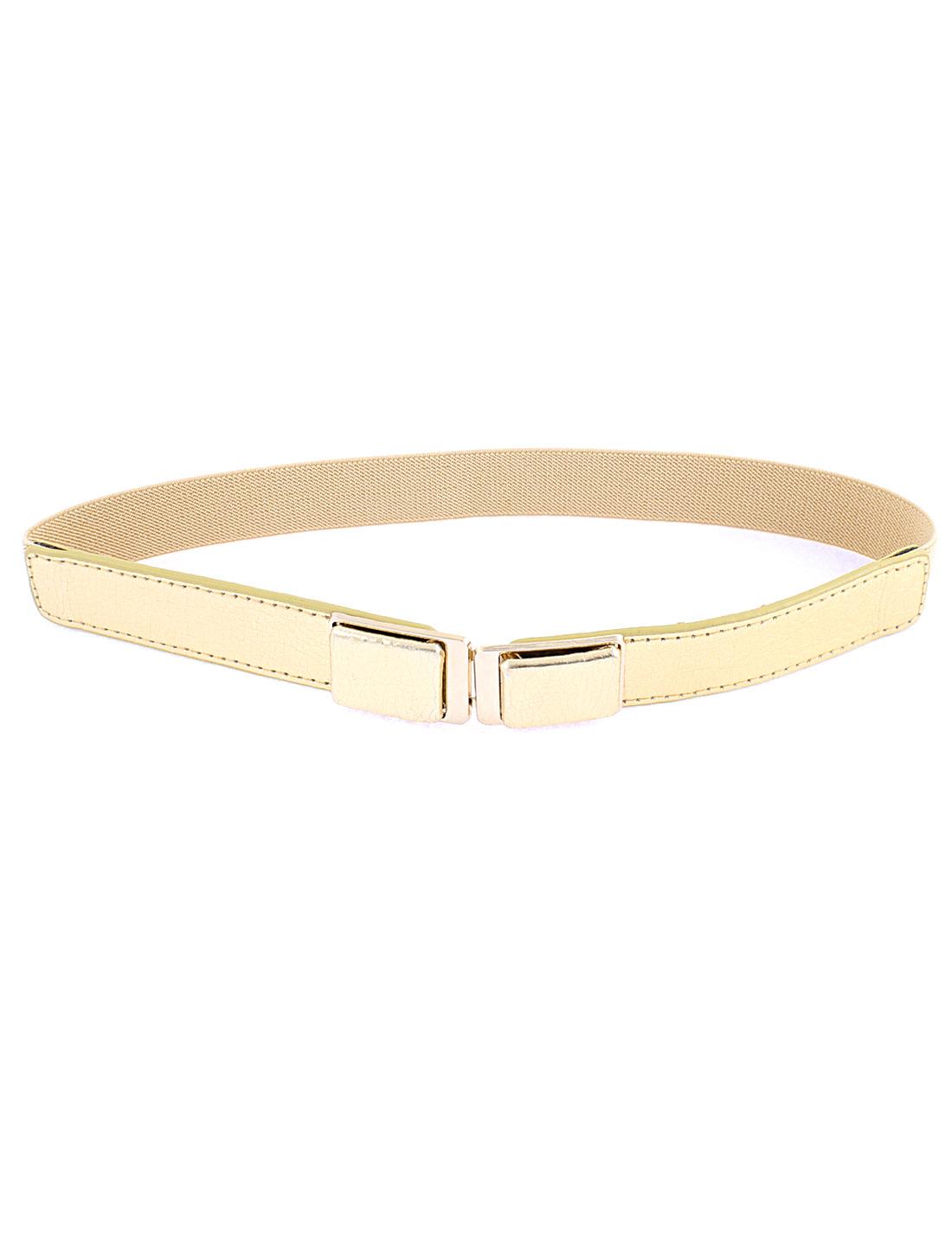 Interlocking Buckle Waist Belt Waistband 1 Inch Wide Beige for Women