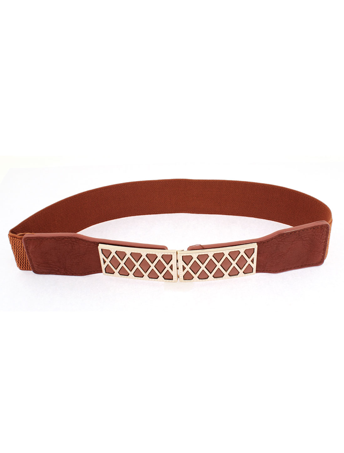 Elastic Stretch Waistband Waist Belt 61cm Long Camel Color for Women