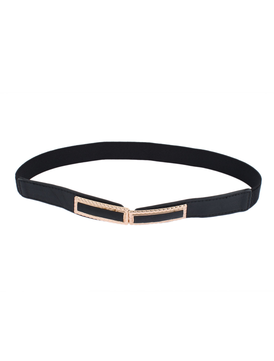 Interlocking Buckle Waist Belt Waistband 1 Inch Width Black for Women