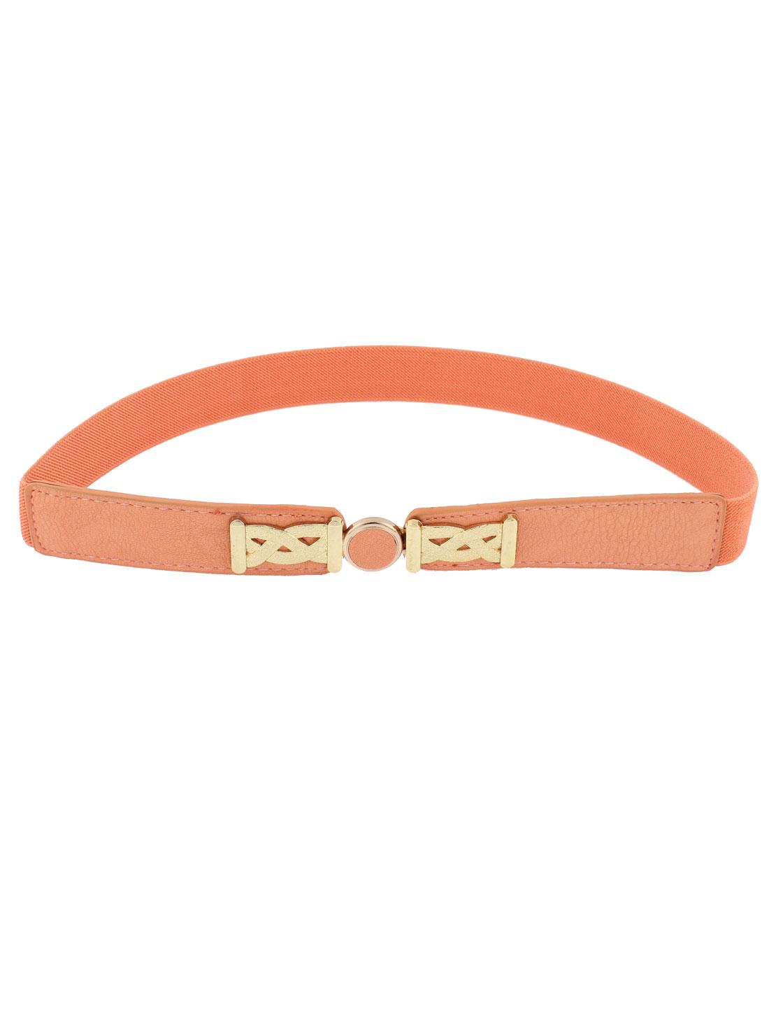 Interlocking Buckle Waist Belt Waistband 1 Inch Width Orange for Women