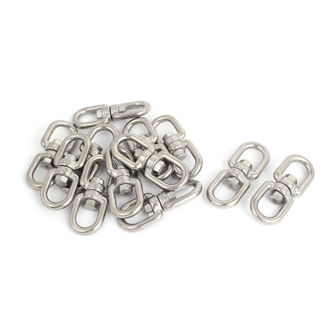 6mm Thickness 304 Stainless Steel Double End Chain Swivel Boat Sea Anchor 12 Pcs