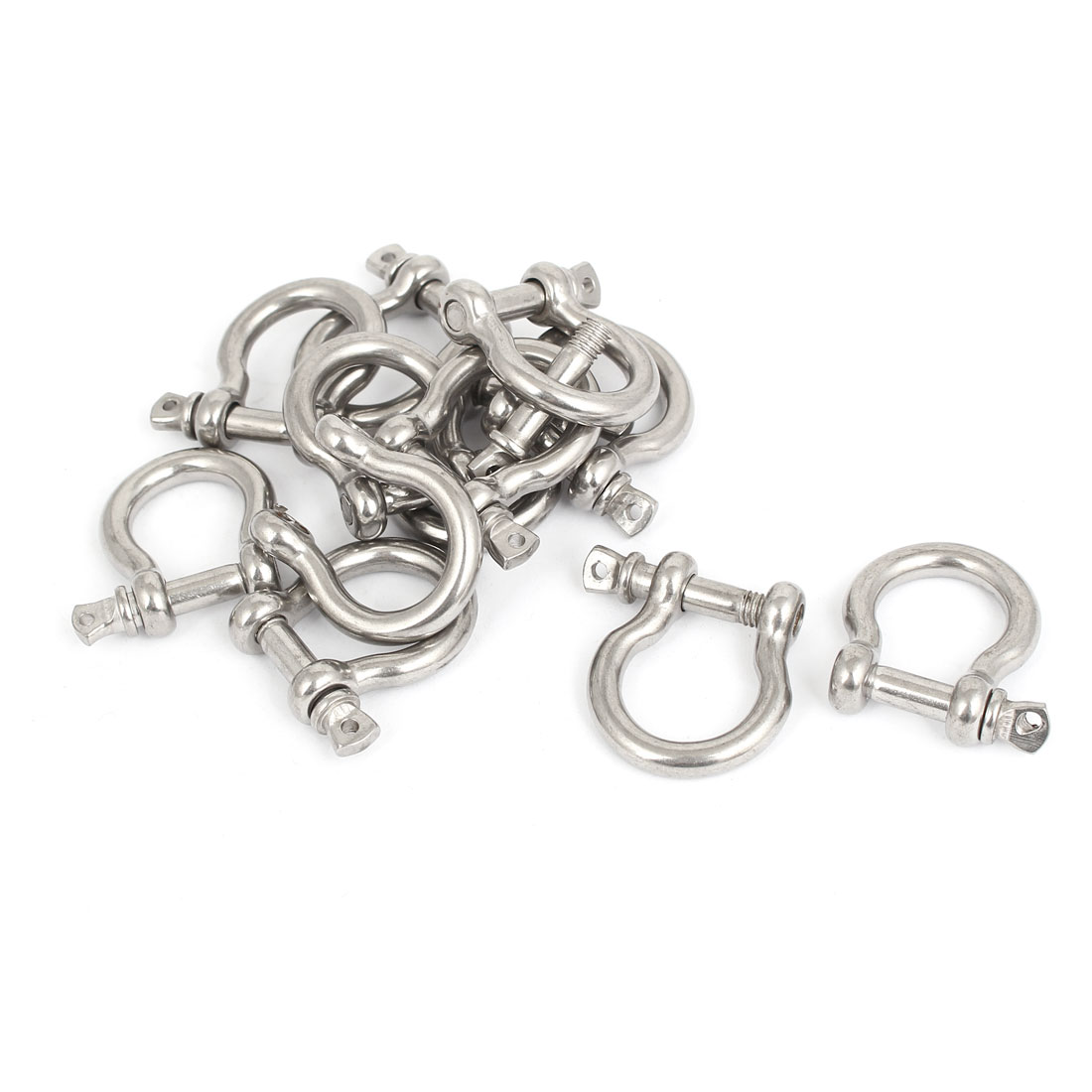 M6 Stainless Steel D Ring Bow Shackle U Lock Survival Chain Buckle 12 Pcs