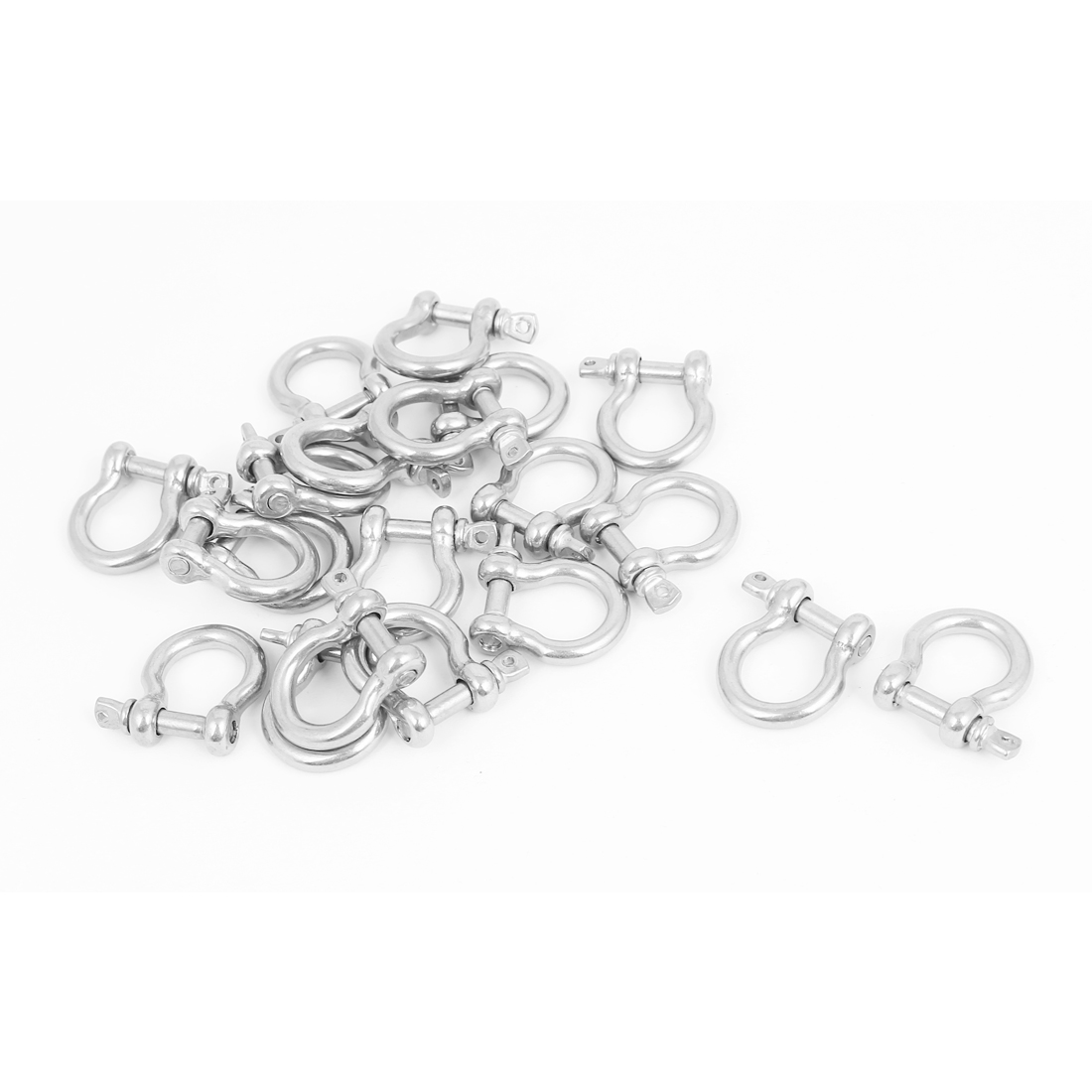 M4 Stainless Steel D Ring Bow Shackle U Lock Wire Rope Fastener 20 Pcs