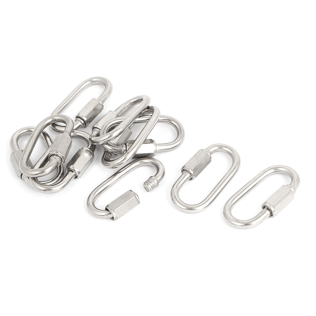 4mm Thickness Stainless Steel Quick Links Carabiners 10 Pcs