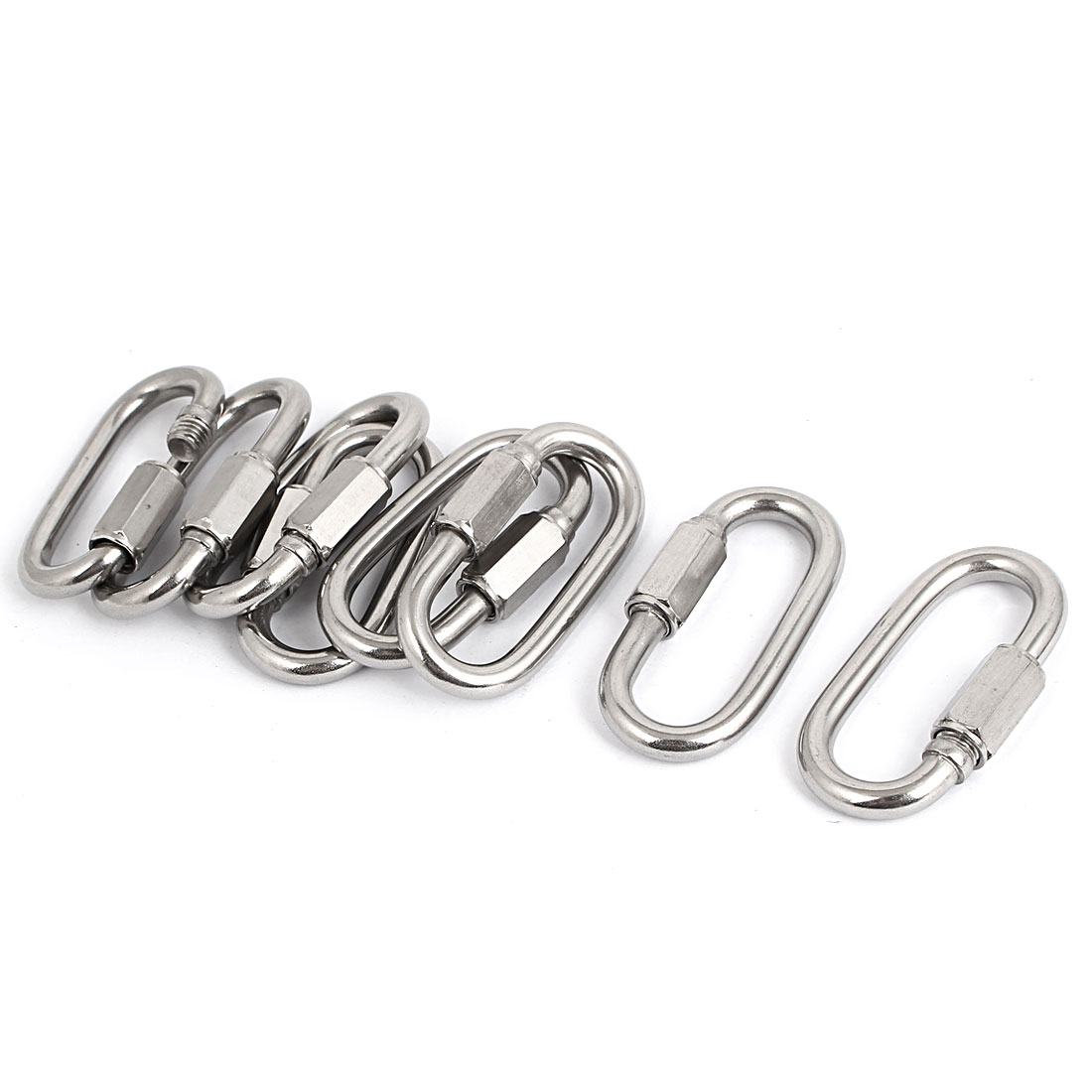 6mm Thickness Stainless Steel Quick Links Carabiners 8 Pcs