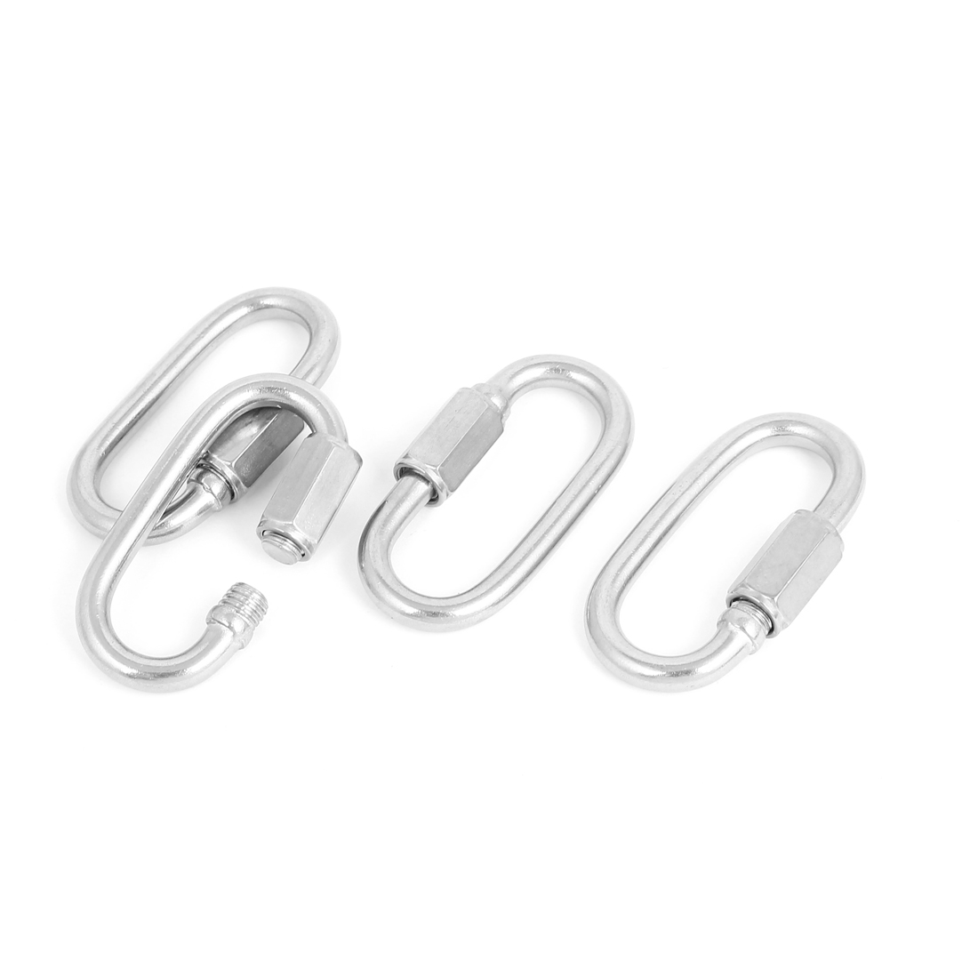 5mm Thickness Stainless Steel Quick Link Chain Rope Cable Connector 4 Pcs