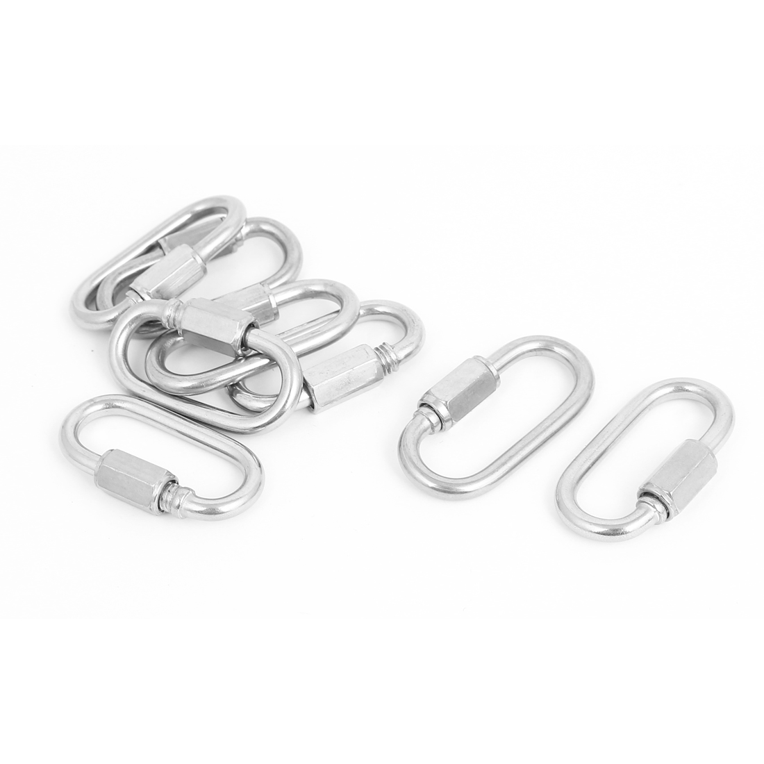 4mm Thickness Stainless Steel Quick Links Carabiners 8 Pcs