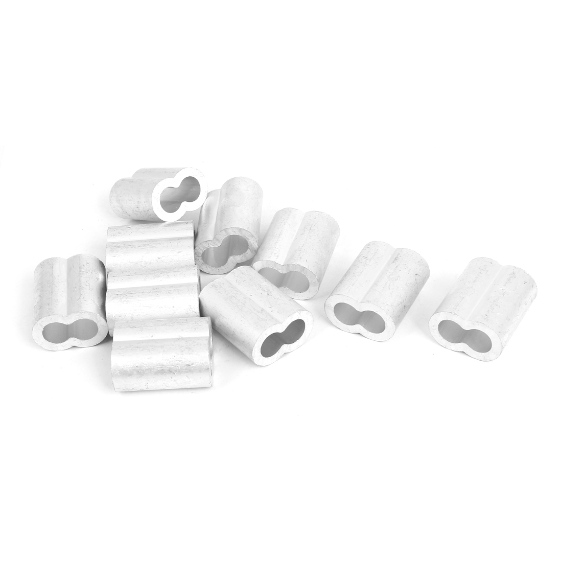 "10mm 3/8"" Wire Rope Aluminum Sleeves Clip Fittings Cable Crimps 10 Pcs"