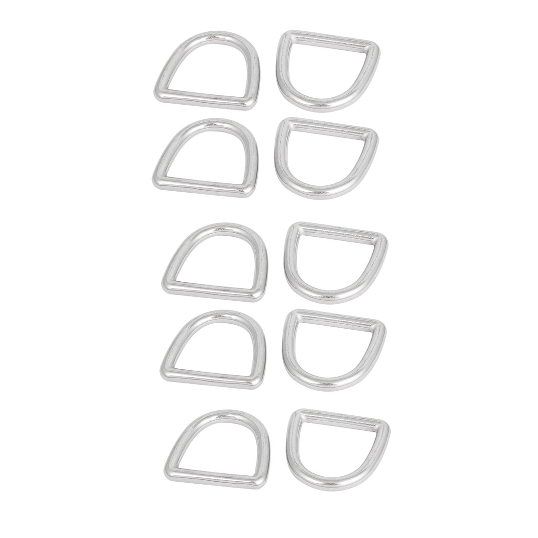Stainless Steel D-Shaped Hooks D Ring Buckles Bag Handbag Belt Buckle 10 Pcs