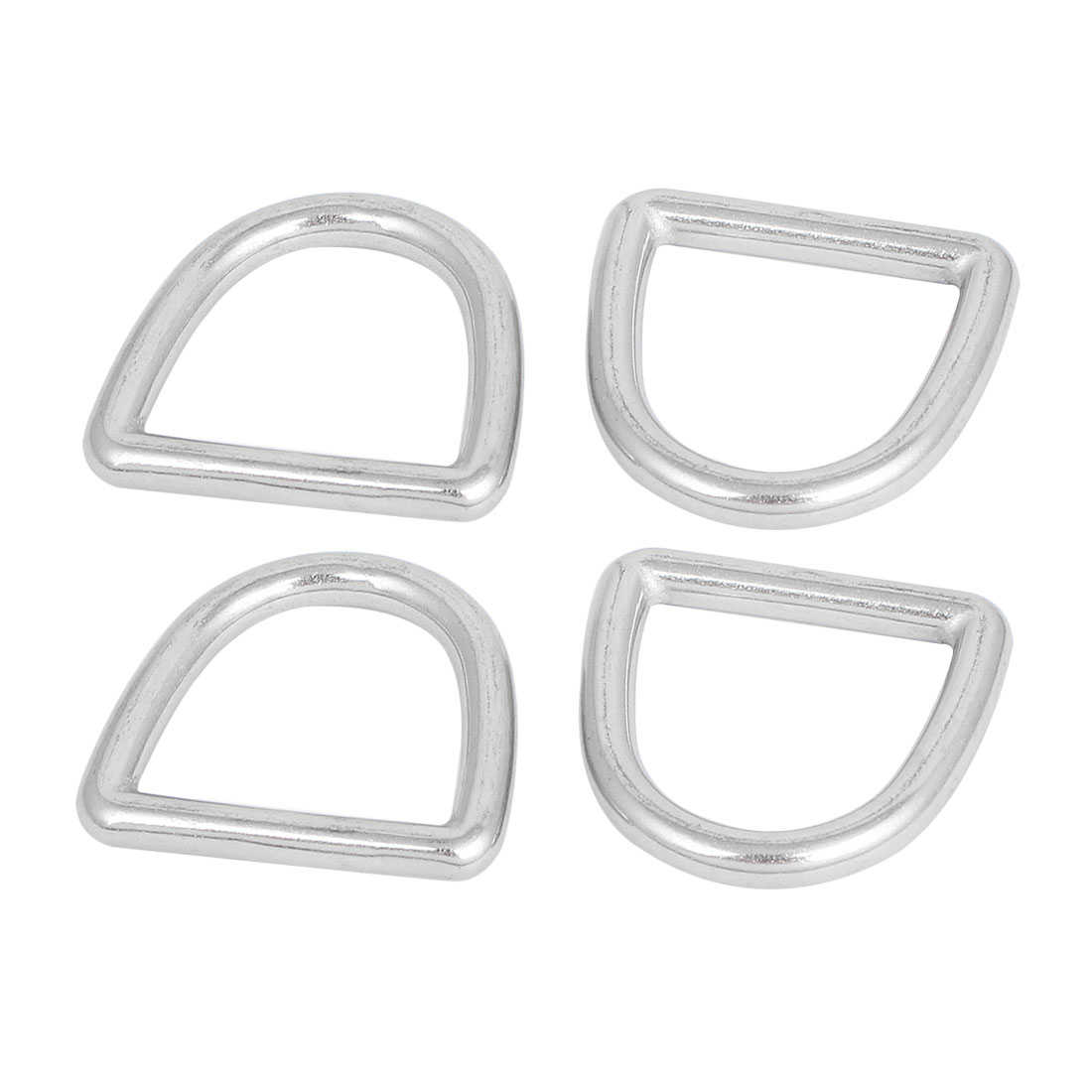 Stainless Steel D Ring Hooks D-Shaped Belt Buckles 4 Pcs for Handbag