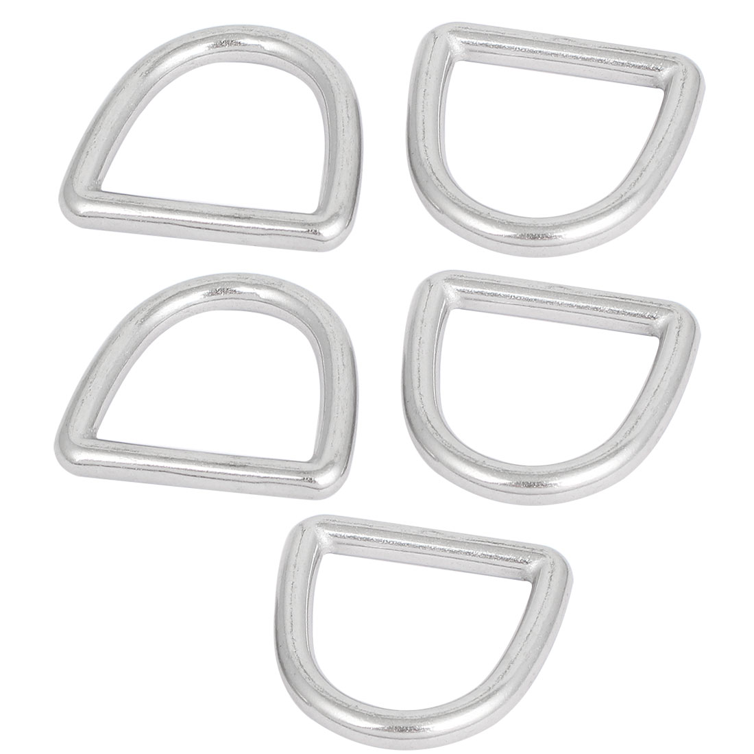 45mm x 42mm x 6mm D Ring Hooks D-Shaped Belt Buckles 5 Pcs for Handbag