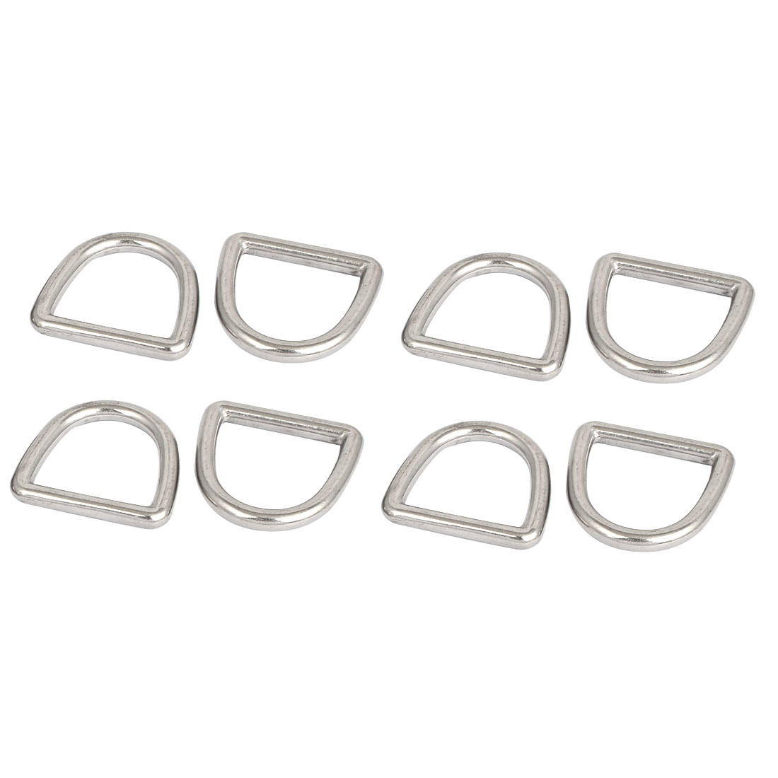 Stainless Steel D Ring Hooks D-Shaped Buckles Handbag Belt Buckle 8 Pcs