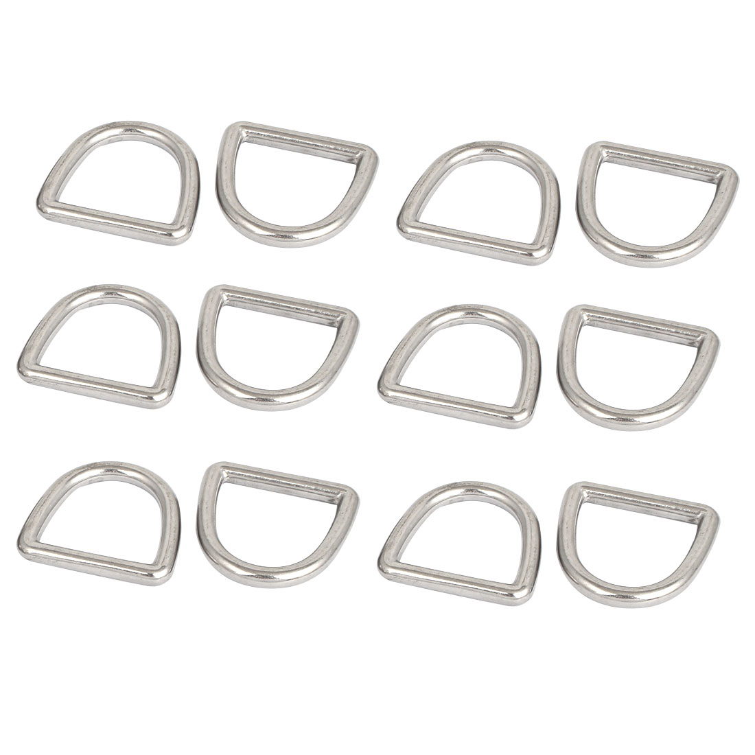 Stainless Steel D Ring Hooks D-Shaped Buckles Handbag Belt Buckle 12 Pcs