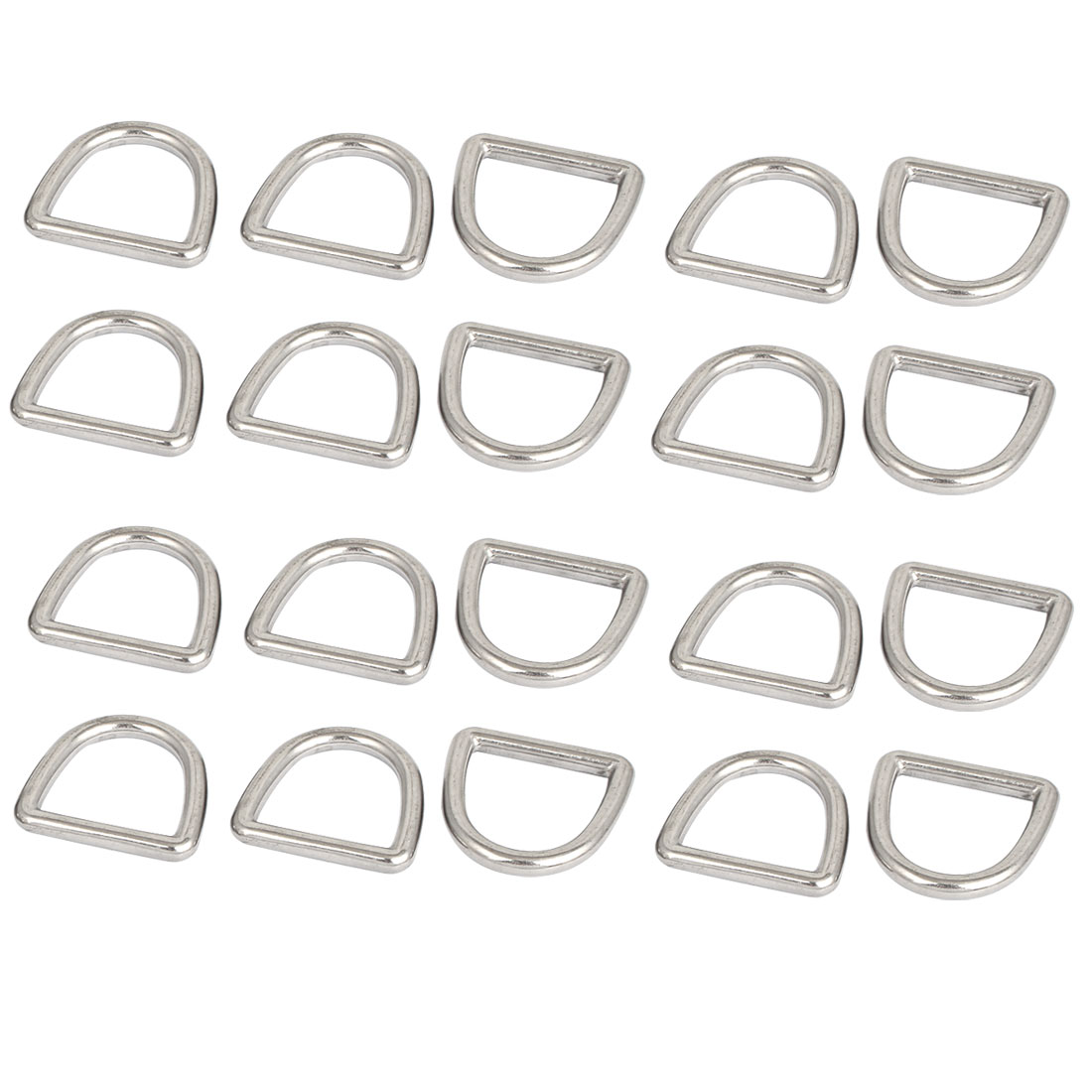 Stainless Steel D Ring Hooks D-Shaped Buckles Handbag Belt Buckle 20 Pcs