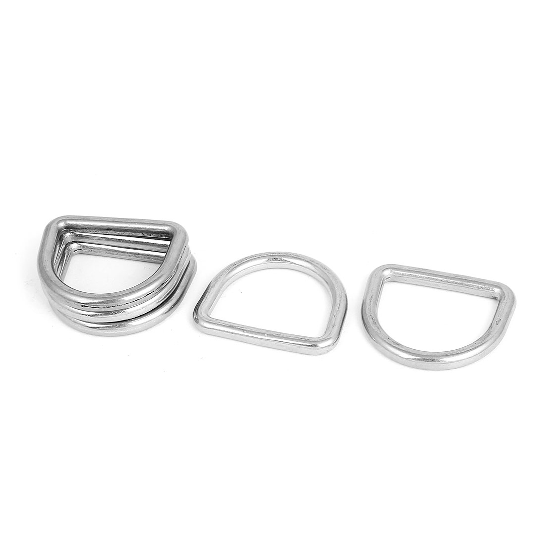 Stainless Steel D Ring Hooks D-Shaped Belt Buckles 5 Pcs for Bags Handbags