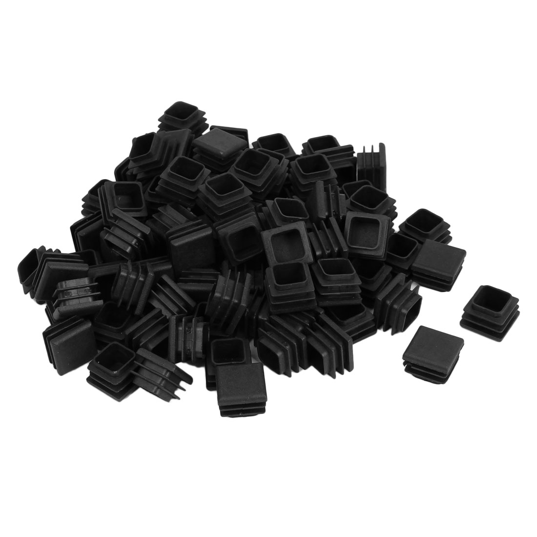 20mm x 20mm Plastic Square Blanking End Caps Tubing Tube Inserts 100 Pcs