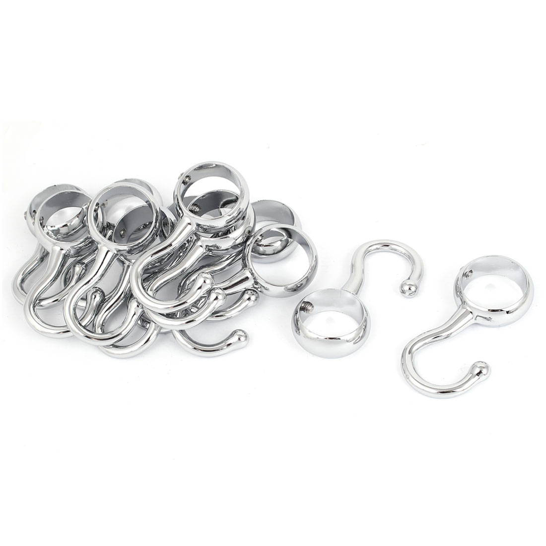 25mm Diameter Pipe Clothes Lever Bracket Support Hooks 12 Pcs