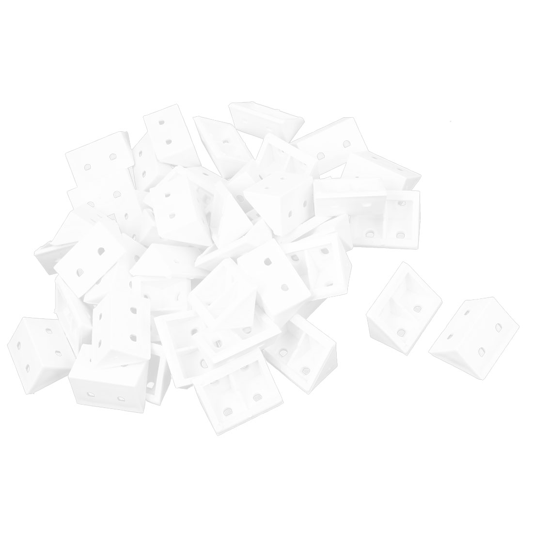 Plastic Shelf Door Cabinet Right Angle Corner Brace Bracket White 50 Pcs