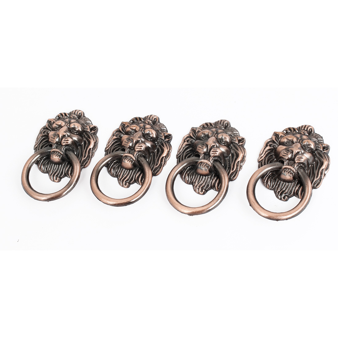 Vintage Style Dresser Drawer Cabinet Door Lion Head Ring Pull Handle 5 Pcs