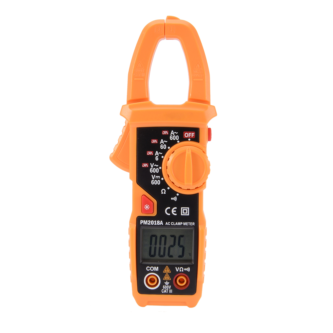 PEAKMETER Authorized PM2018A Digital Multimeter Ammeter Voltage Ohmmeter Clamp Meter Tester Handheld Orange