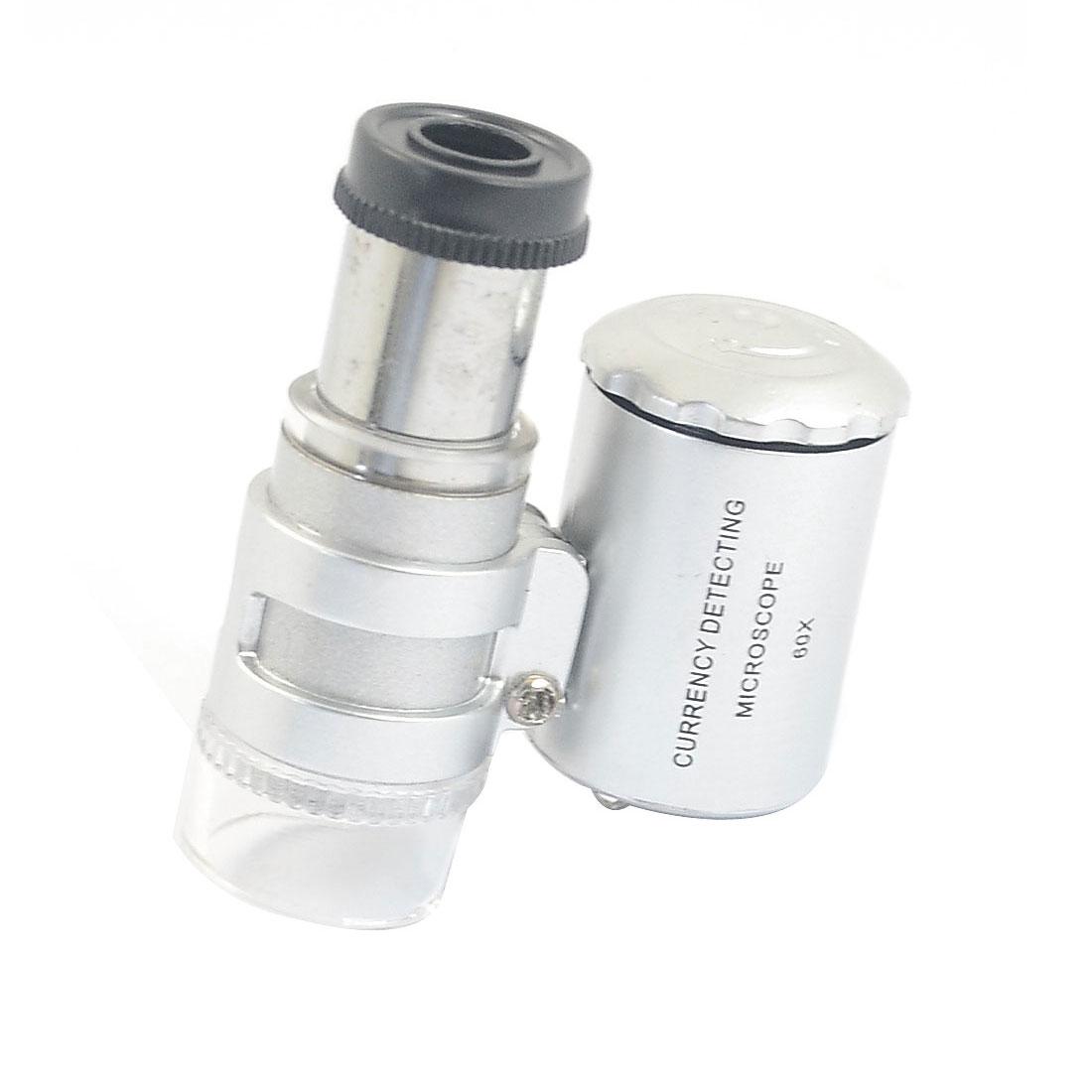Handheld LED Illuminated 60X Pocket Microscope Magnifier Jewelry Eye Loupe