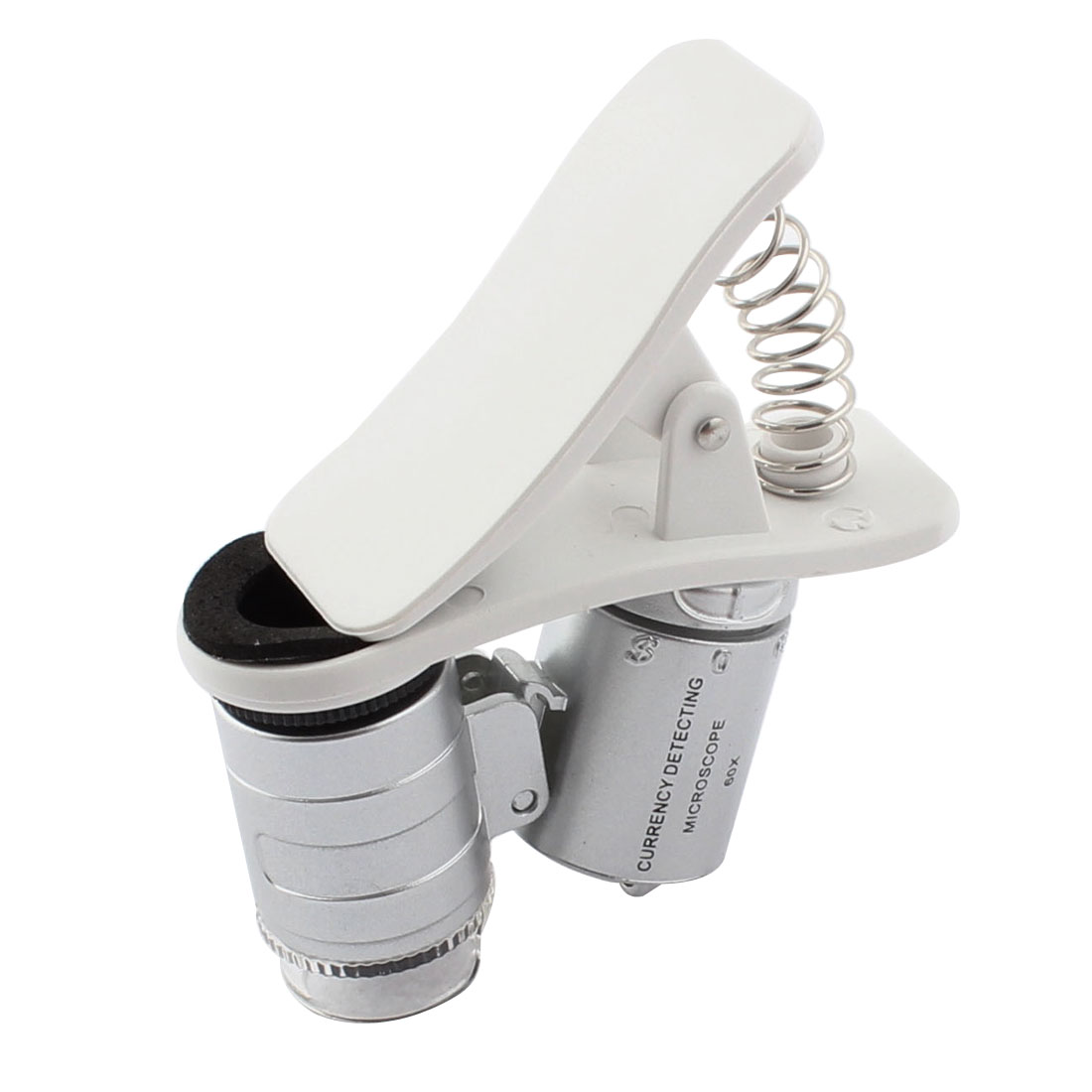 Pocket 3 LED Light Clip Fixed Microscope 60X Magnifier Loupe Glass