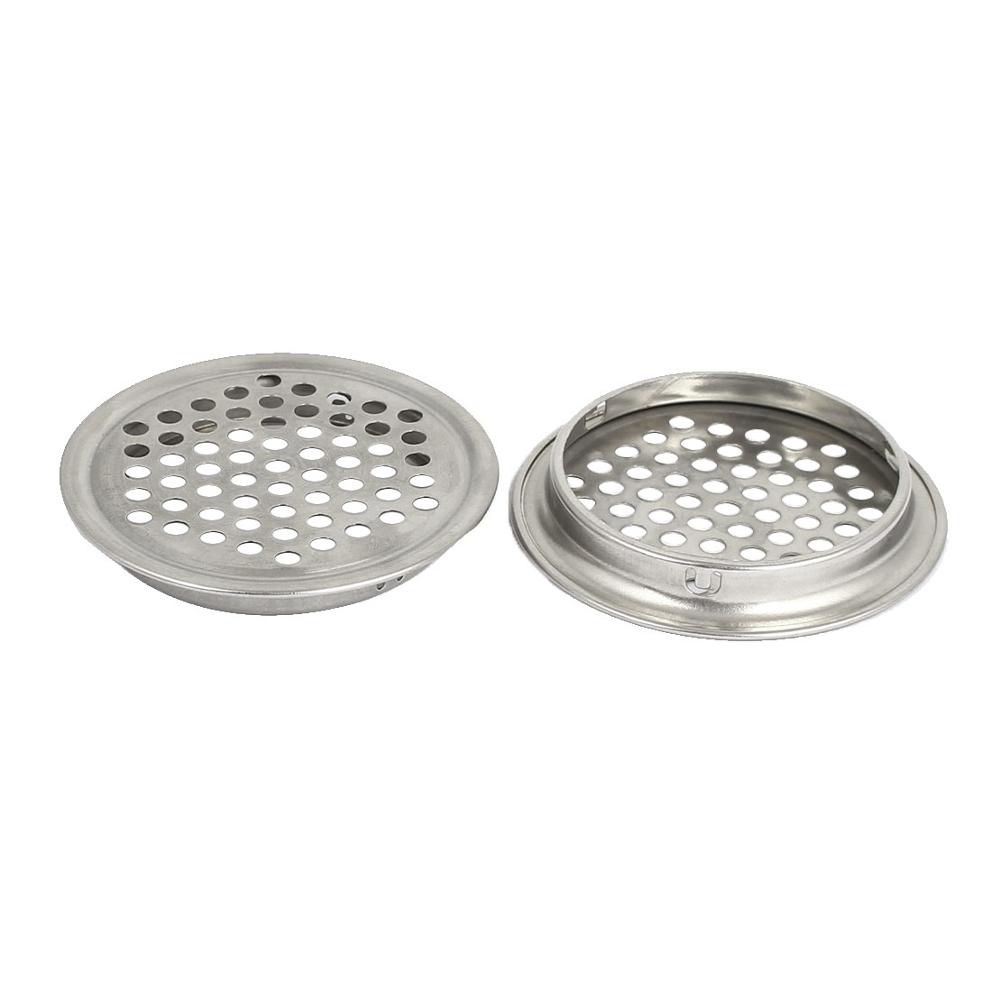 Kitchen Stainless Steel Sink Strainer Waste Disposer Drain Filter 2 Pcs
