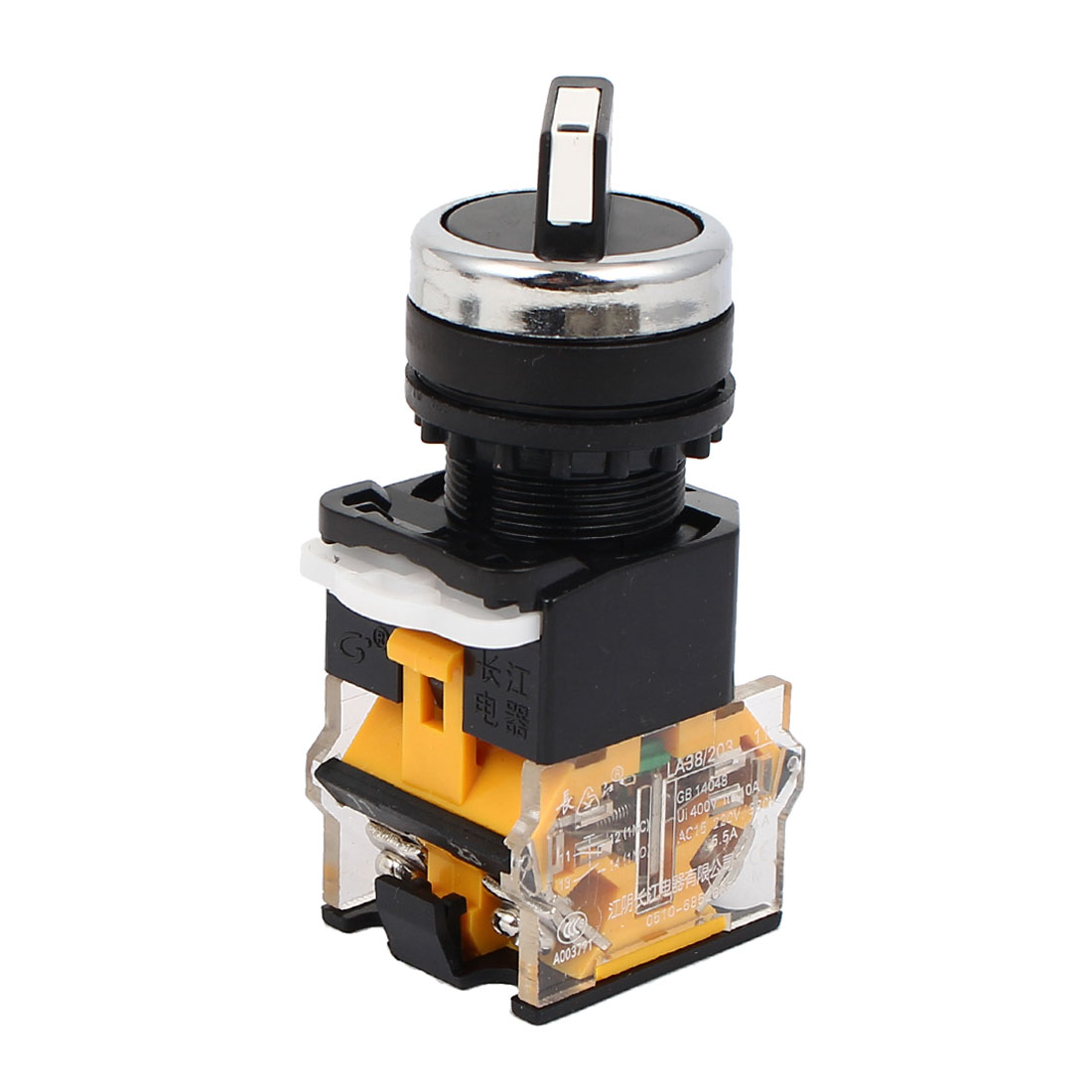 400V 10A DPST Self-locking NO+NC 3 Position Control Rotary Switch