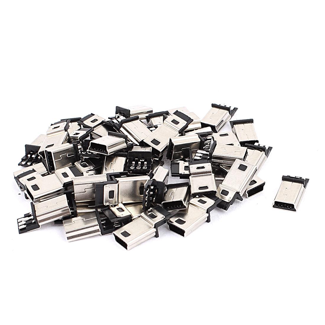50 Pcs Micro USB B Type 5 Pin Male PCB Mount Port Jack SMD SMT Socket