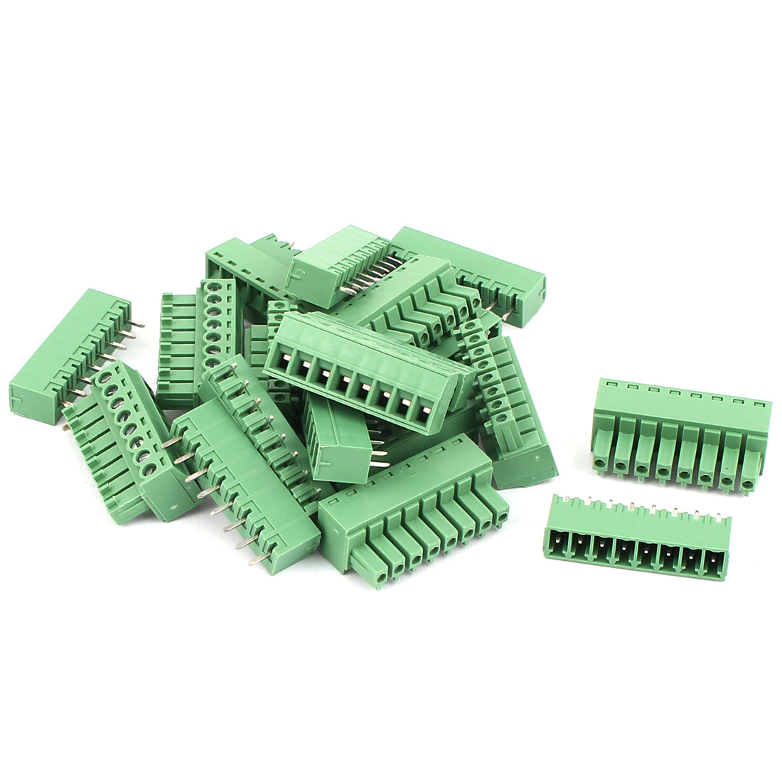 10 Pcs 250V 6A 8-Pin 3mm Spacing PCB Mount Terminal Block Connector