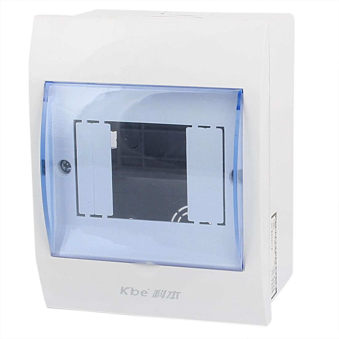 Clear Blue Fllip Cap 2-4 Rectangular Way Power Supply Distribution Box