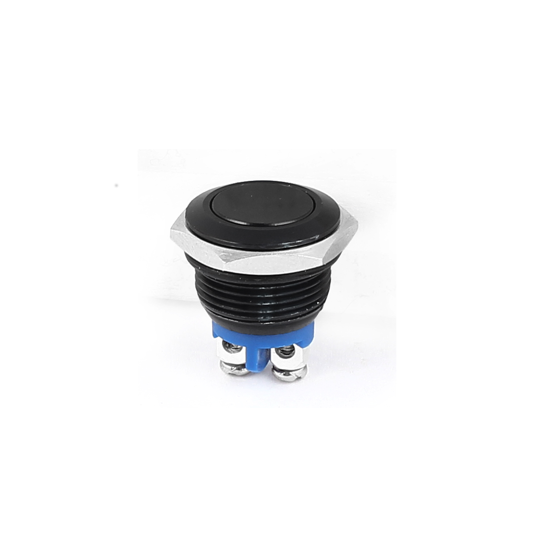 AC 250V 5A SPST Momentary NO Black Mini Push Button Switch