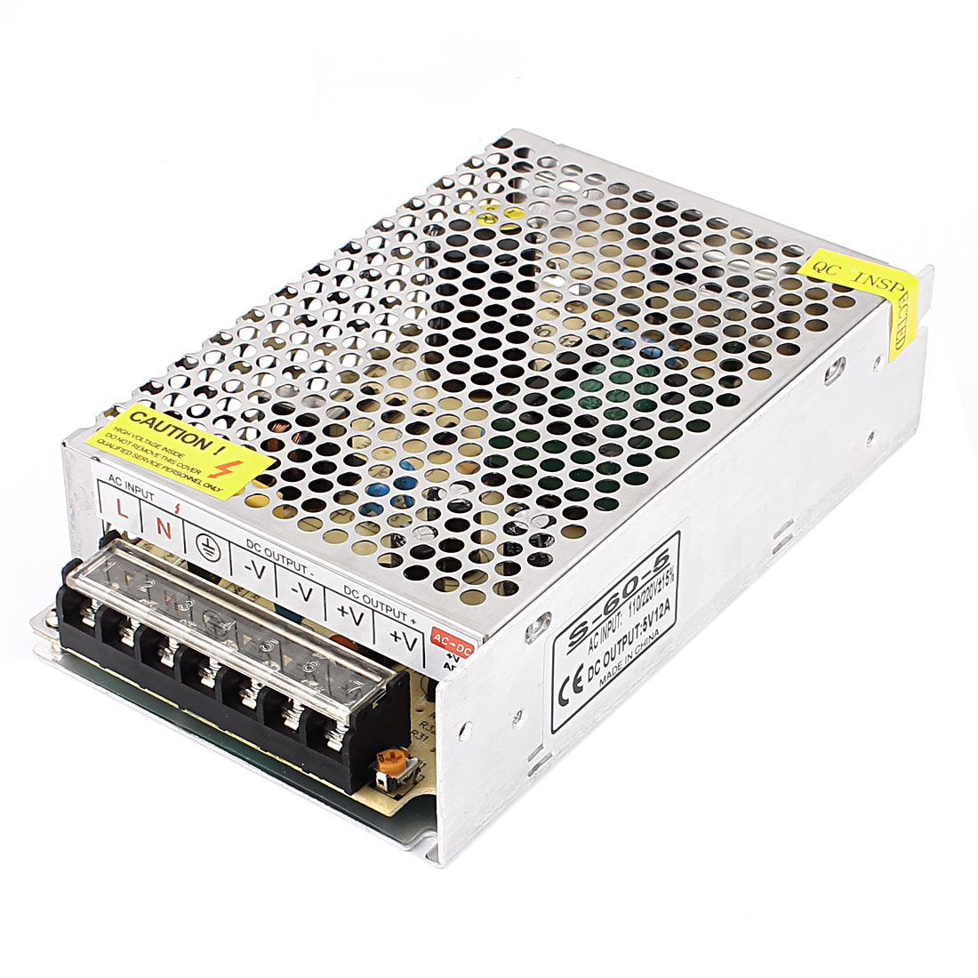 DC 5V 12A 60W 7 Terminals Power Supply Switching Converter for LED Strip Light