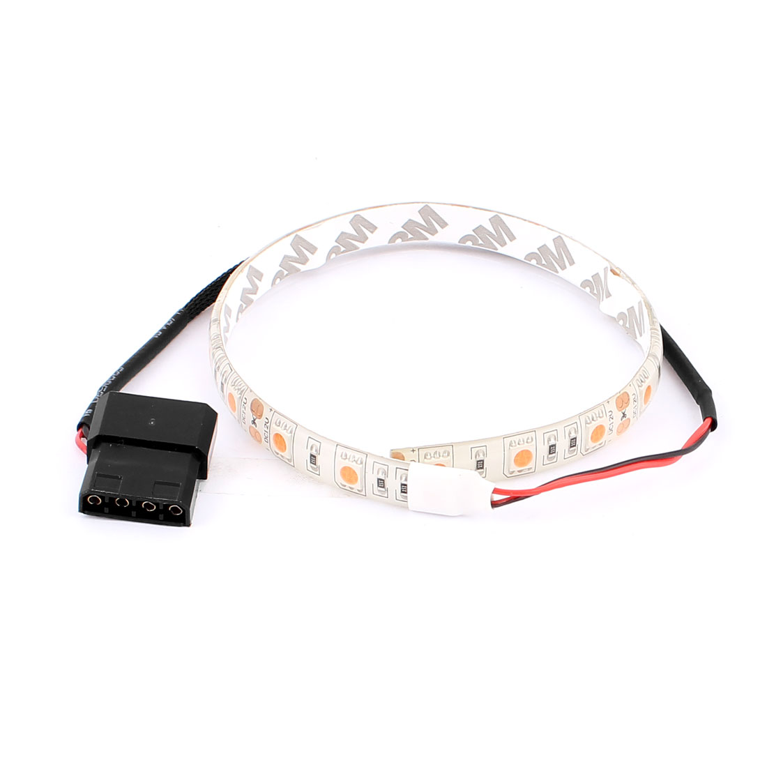 30cm Self-adhesive DC 12V 4Pin IDE 5050 SMD Warm White 17-LED Flexible Decoration Light Strip for PC Computer Box