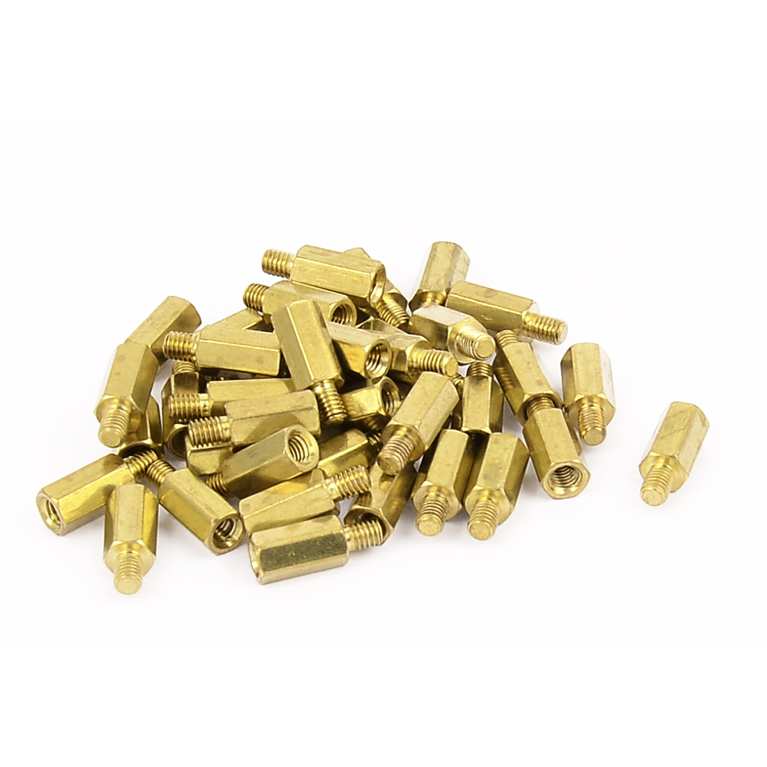 40 Pcs PC PCB Motherboard Brass Standoff Hexagonal Spacer M3 9+4mm