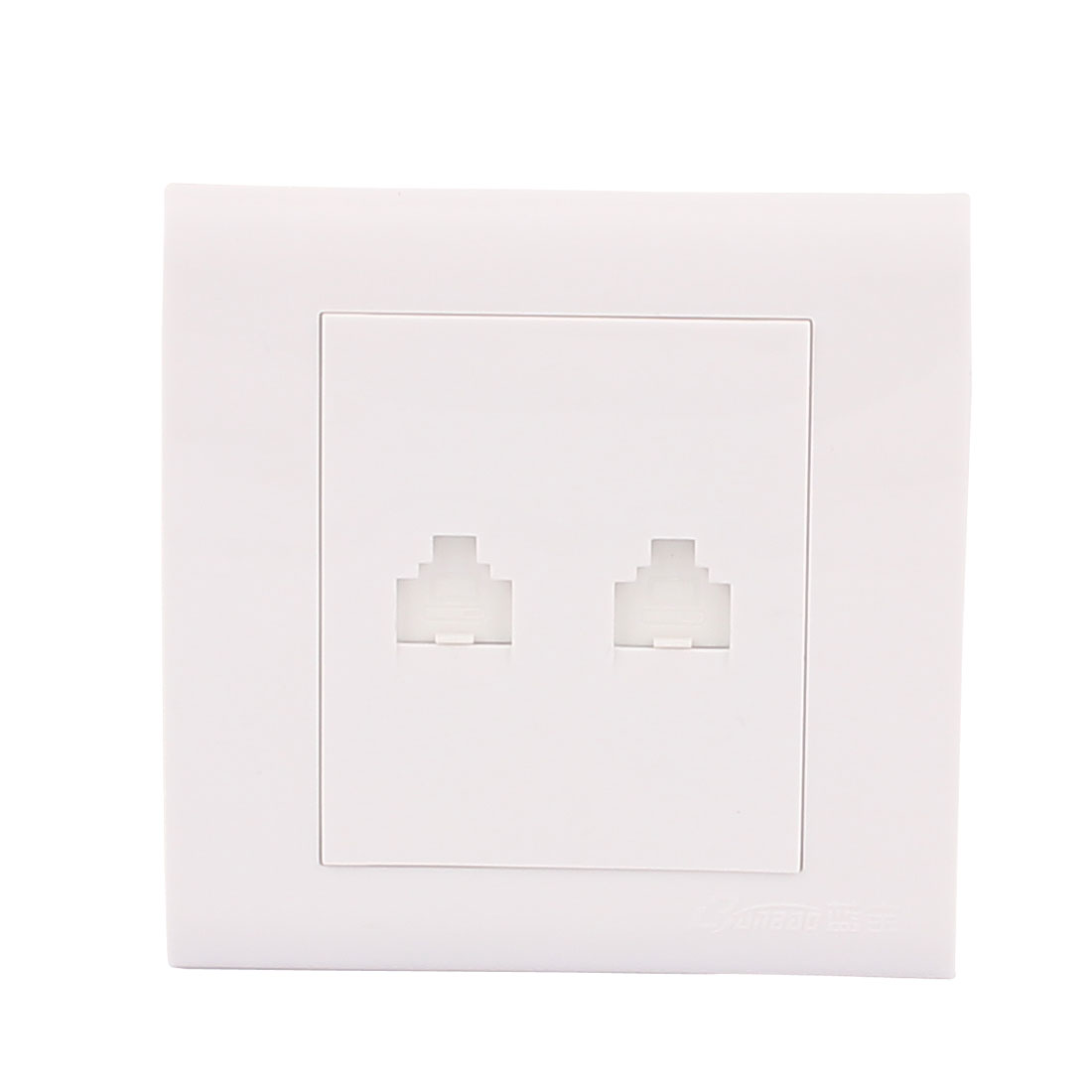 Office White Computer Television Dual RJ45 Network Outlet Wall Panel Plate