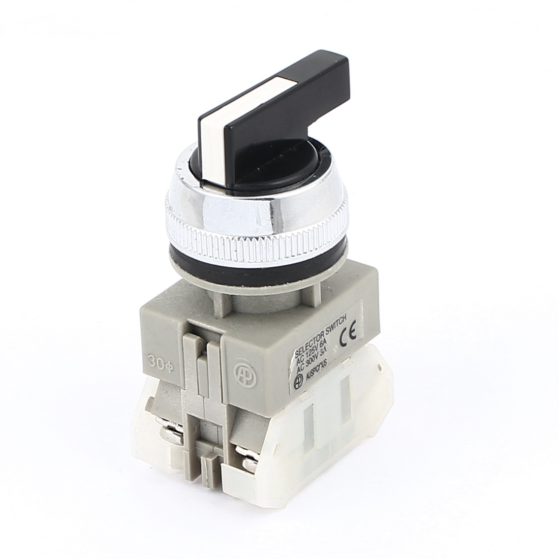 AC 125V/300V 6A/3A NO+NC 4-Pin DPST 3 Position Rotary Selector Switch