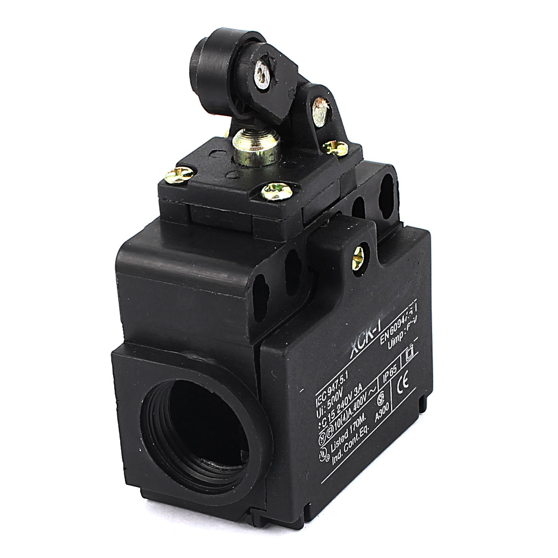 XCK-T 4 Terminal DPST 2 Holes Roller Pushbutton Enclosed Limit Switch