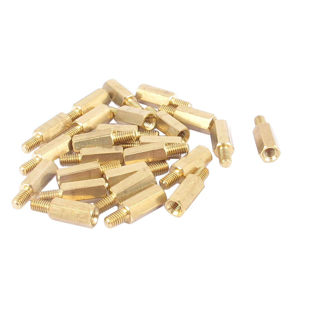 25 Pcs PC PCB Motherboard Brass Standoff Hexagonal Spacer M3 10+5mm