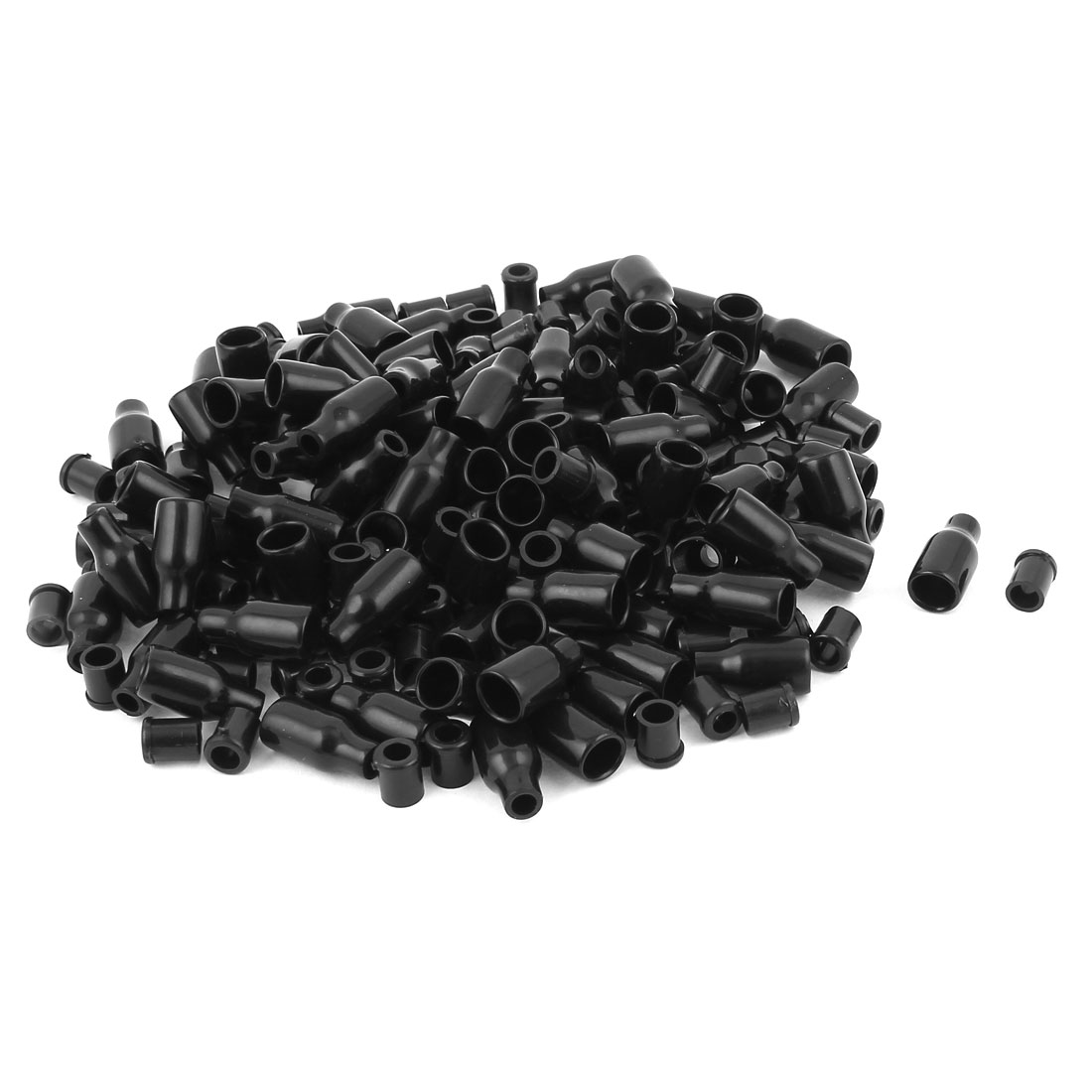 100 Pcs Soft PVC Wire Terminal Sleeves Insulating Covers Caps Black