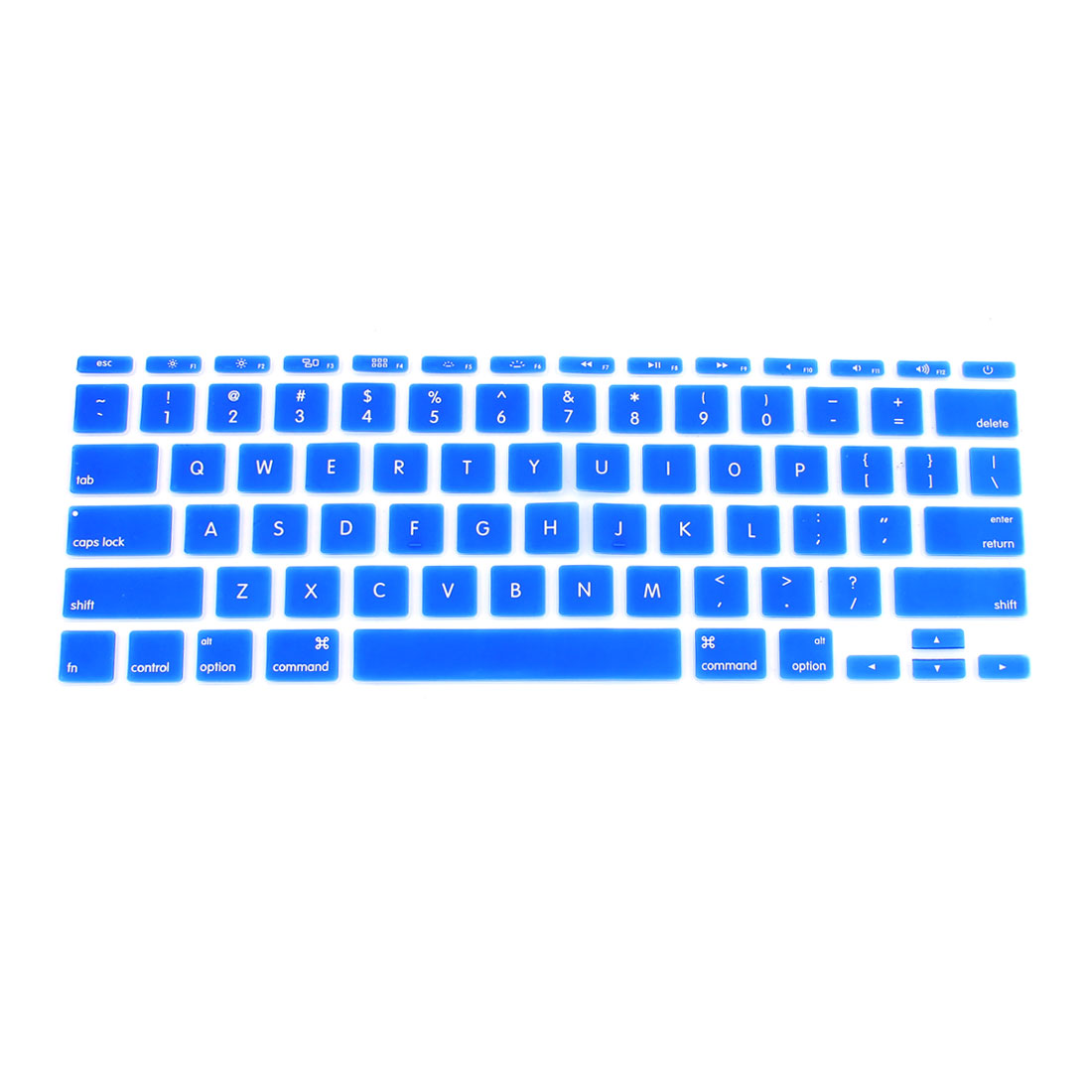 "Waterproof Washable Ultra Thin Silicone Laptop Keyboard Film Protector Blue for 11.6"" Screen Computer"