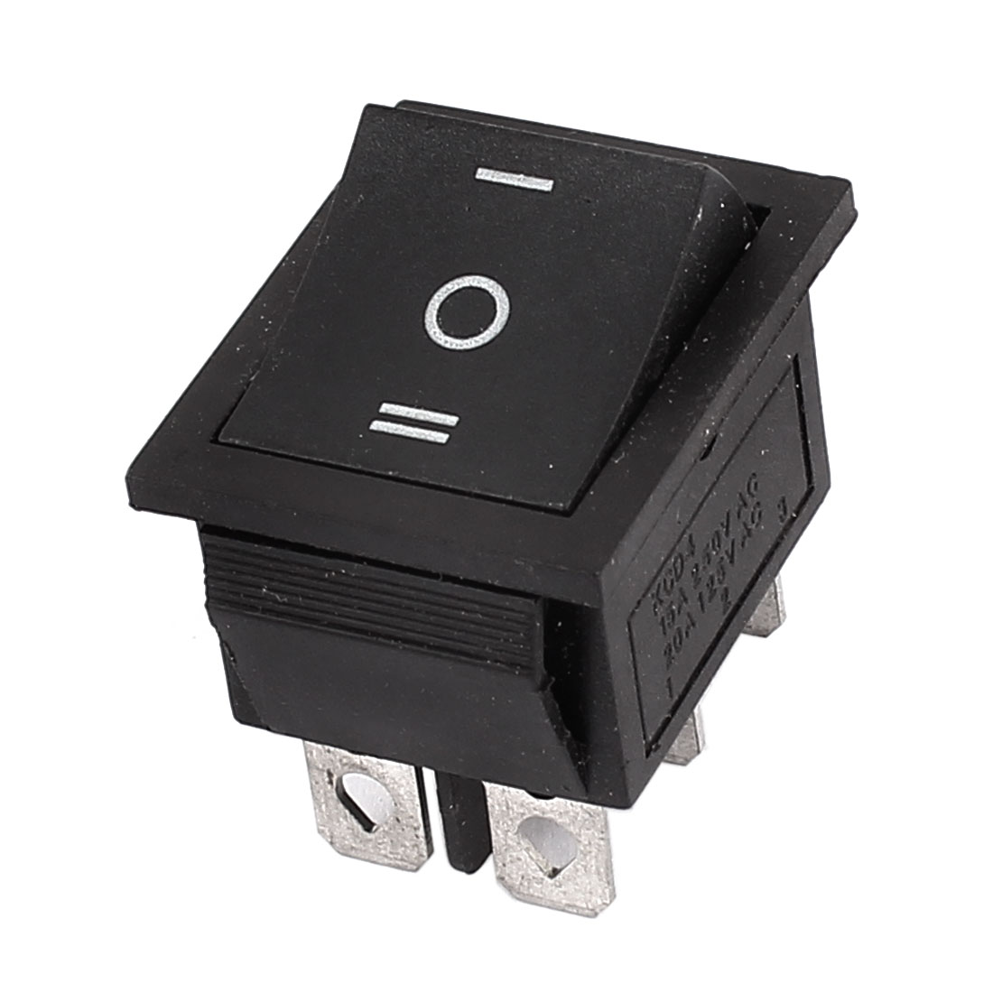 DPDT 3 Position Boat Rocker Switch 15A 250VAC 20A 125V Black