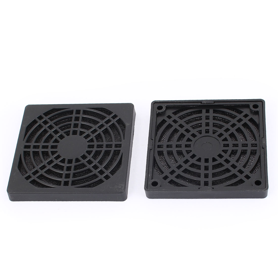 2PCS PC Case Fan 8.5cm Plastic Filter Dust Guard Dustproof Mesh Black