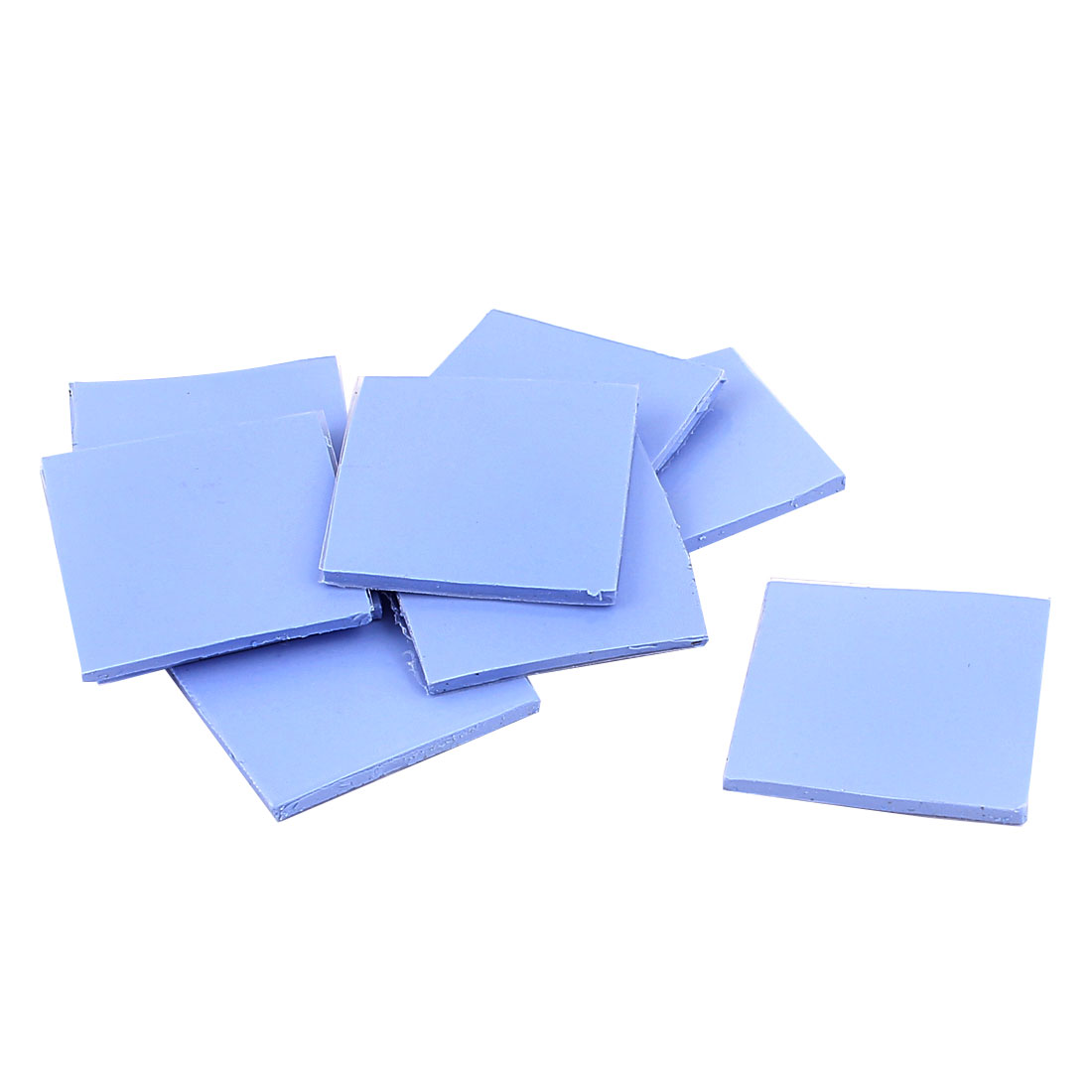 10 Pcs Blue Thermal Pad GPU CPU Heatsink Cooling Conductive Silicone 30mmx30mmx2mm
