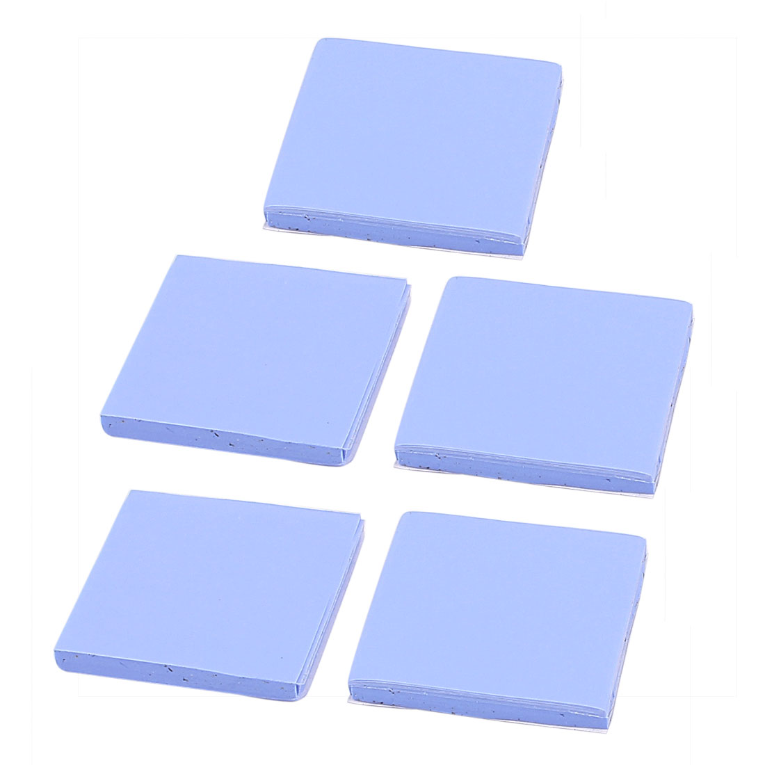 5 Pcs Blue Thermal Pad GPU CPU Heatsink Cooling Conductive Silicone 30mmx30mmx2mm