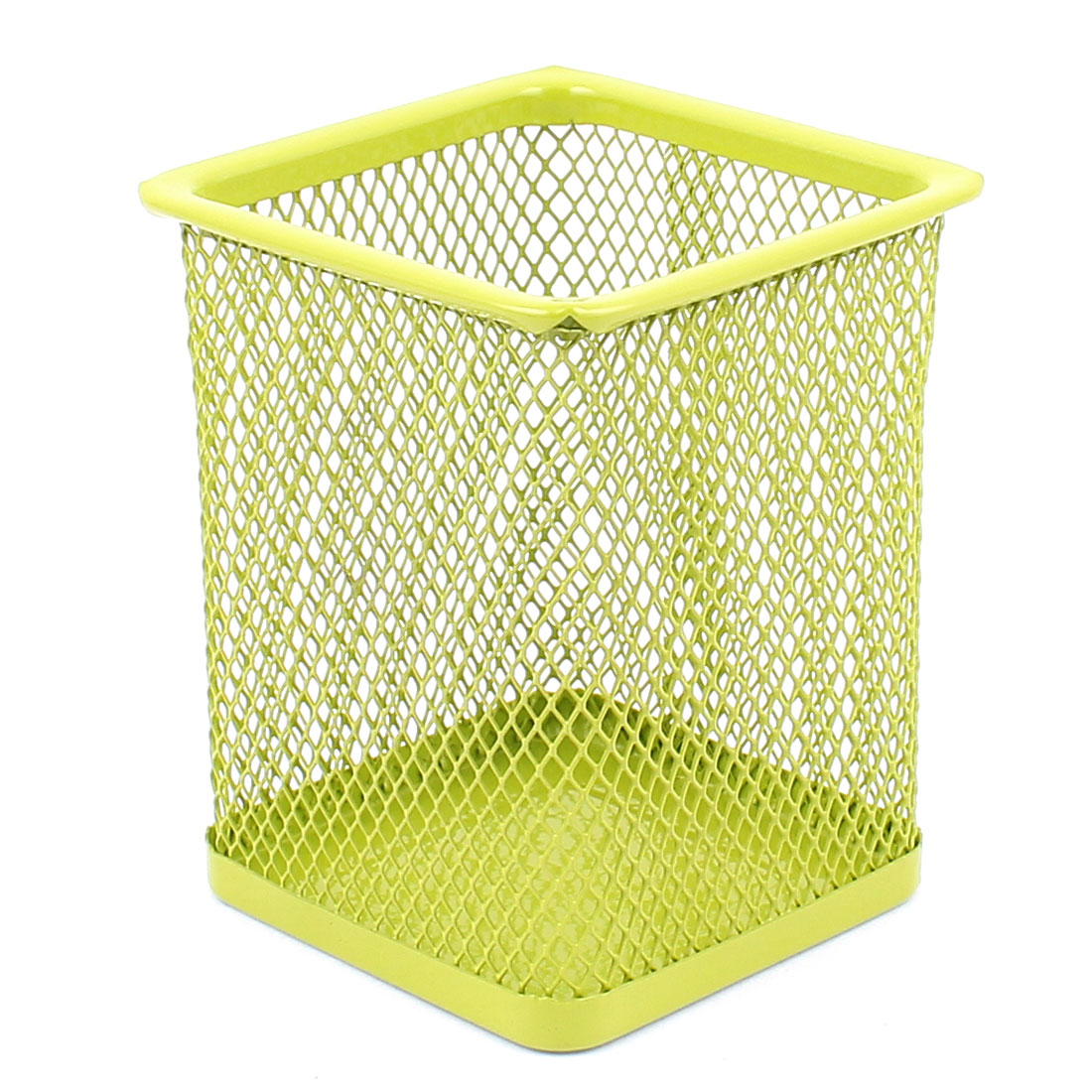Office School Metal Mesh Style Pen Pencils Holder Container Organizer Case Green