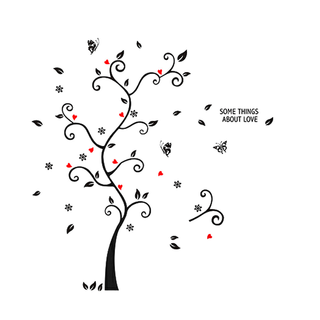 Black Tree Branches Design Wall Art Sticker Decal Wallpaper Decor