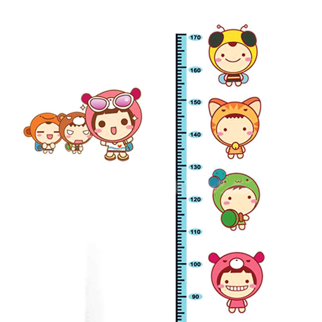 Home Room Removable Cartoon Height Chart Measure Decal Wall Sticker DIY